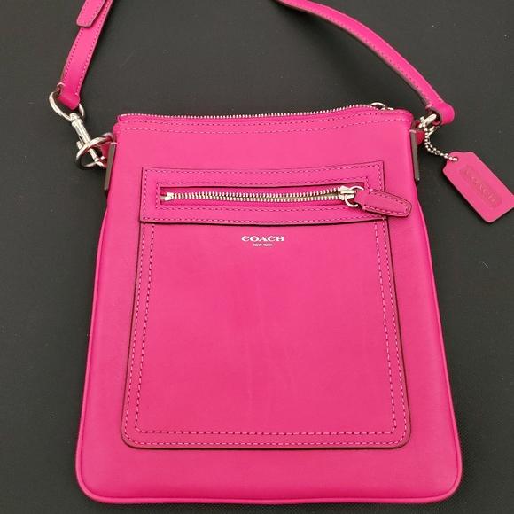 Coach Handbags - Hot Pink Coach Crossbody Handbag